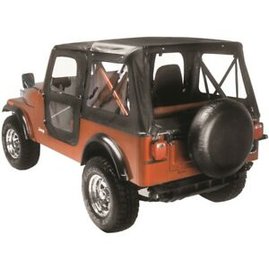 51117 01 Bestop Replace a top With Door Skins Black Crush For Jeep Cj5 1976 1983