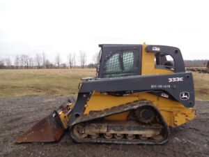 2015 John Deere 333e Skid Steer Cab heat air 2 Speed 3 300 Lift Cap 2 091hr