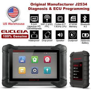 8 Inch Auto Intelligent Dual Mode Diagnostic Tool Eucleia S8 J2534 Programming
