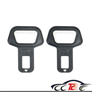 2x Universal Car Safety Seat Belt Buckle Alarm Stopper Clip Clamp Bottle Opener
