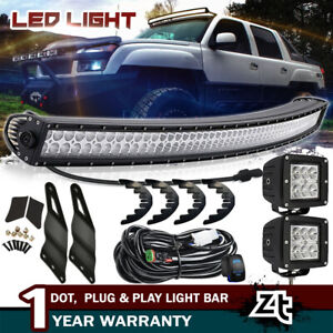 50 Led Light Bar cube Pods W Upper Mount Brackets For Chevy Avalanche Tahoe
