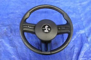 2008 Ford Mustang Shelby Gt500 5 4l Oem Leather Steering Wheel W Horn 1160