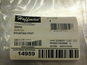 Hoffman Enclosures Qimfk Mounting Foot Kit Internal 14959