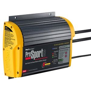 Prosport 12v 24v 8 Charging Amps Compact On Board Marine Battery Charger