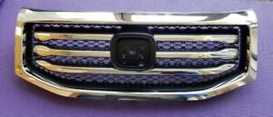 Fits New Honda Pilot Front Grill Grille 12 15 All In One Textured Molding