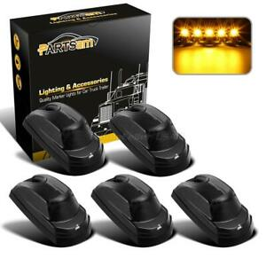 5x Smoke amber Cab Roof Running Top Light For Ford F250 F350 17 19 Super Duty