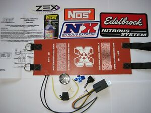 New 10 15lb Nitrous Bottle Heater Kit W Gauge Switch Relay In Line Fuse 4an 6an