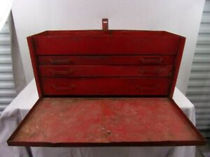 Vintage Snap On Tools Tool Chest Box 24 X 11 5 X 9 With 3 Sliding Draws