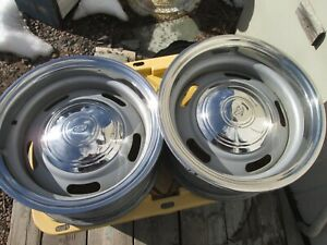 1971 1980 C10 Chevrolet Gmc Truck Rally Wheels 15x7 5 Hole Ring And Cap