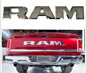 New Chrome Ram 1500 Tailgate Ram Emblem Letters Fit For 2015 2018 Dodge Ram
