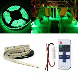 Waterproof Green Led Strip Light Parts Accessories Car Boat Universal 300led 5m