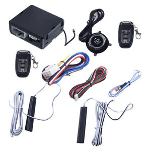 Pke Passive Keyless Entry Car Remote Engine Start Push Button Alarm System Kit