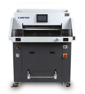 720mm 28 3 Hydraulic Paper Guillotine Cutter Heavy Programmable Cutting deluxe