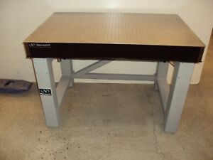 Tested Crated Newport Metric Optical Table Vibration Isolation Breadboard Lab