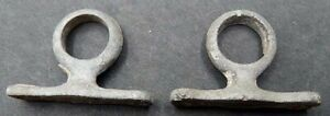 Vintage Pair Small Galvanized Cast Iron 7 8 Ring Stands