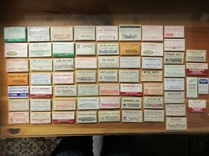 62 Old Pharmacy Apothecary Medicine Bottle Labels Vintage Ephemera Diff