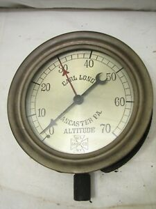 Us Gauge Co Altitude Steampunk Industrial Tool Carl Long Lancaster Pa Steam Punk