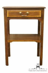 Sherrill Furniture Banded Mahogany Traditional Style 18 Nightstand Accent