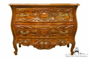 John Widdicomb Louis Xvi French Provincial Solid Walnut 42 Ornate Low Chest