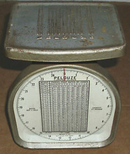 1954 Rare Pelouze Y 25 Postal Scale Very Cool Collectible That You Can Use Look