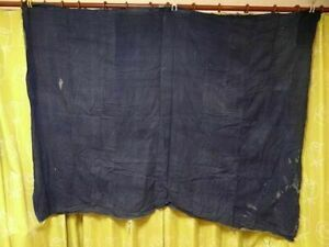 Old Cloth Remnant Peasant Clothing Indigo Dyeing Boro Retro Rare Vintage A36