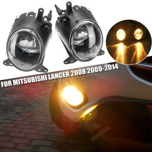 2x Front Bumper Driving Fog Light Led Lamp For Mitsubishi Lancer 2008 2009 2014