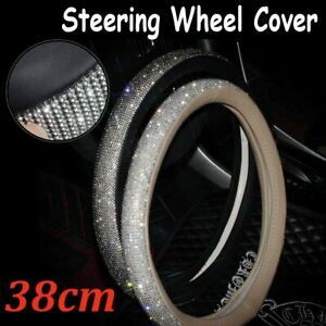 15 Bling Car Steering Wheel Cover 38cm Glitter Rhinestone For Girl Lady Women