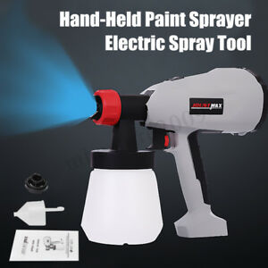 220v 400w Electric Paint Gun Er Airless House Fence Room Car Painting Us