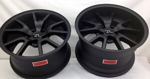 17 Matte Black Mustang Fr500 Style Wheels Staggered 17x9 17x10 5 5x114 3 94 04