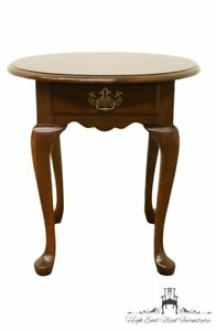 Pennsylvania House Solid Cherry Queen Anne Style End Lamp Table 11 1113