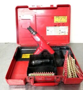 Hilti Dx35 Powder Actuated Nail Gun Ramset Plus Case Extras