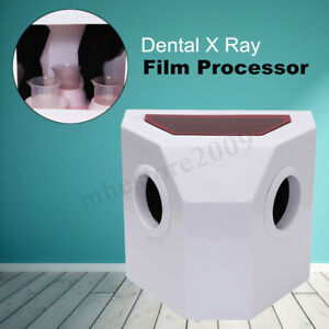 Dental X ray Film Processor Developer Manual Wash Darkroom Box 3x 250ml Cup