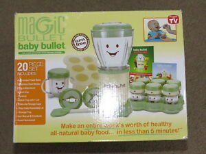 GREAT Baby Bullet baby food making kit + storageuse or can be additional parts