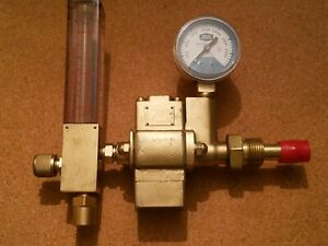 Oxweld Type R 5007 Carbon Dioxide Regulator Single Range Flowmeter