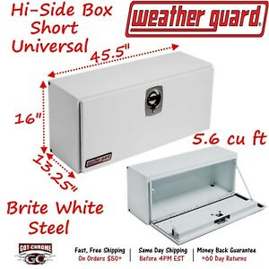 246 3 02 Weather Guard White Steel Hi Side Top Mount 45 Truck Toolbox