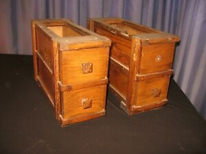 4 Mission Oak Treadle Sewing Machine Cabinet Drawers W Frame Vintage Antique