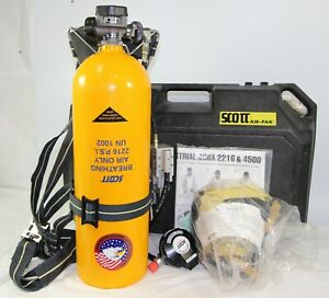 3m Scott 2216 Psig Iscba Self contained Breathing Apparatus W Inspection Rcrd