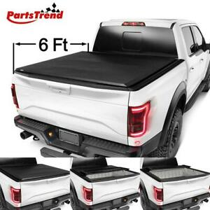 For 94 03 Chevy S10 Gmc S15 Sonoma 6 Bed Vinyl Lock Soft Tri Fold Tonneau Cover