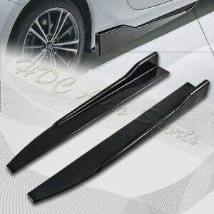 Universal Carbon Style Side Skirt Rocker Splitters Diffuser Winglet Wind 31 x4