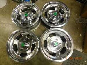 Vintage Polished Appliance 14x7 Slot Mag Wheels Cutlass Lemans Wagon Chevelle X
