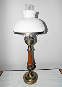Gone With The Wind Vintage 3 Way Tall Classic Wood And Brass Hurricane Lamp