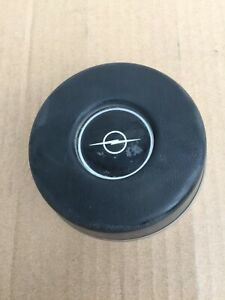 1968 1973 Opel Gt Genuine Vintage Factory Charcoal Horn Button Steering Wheel Bl