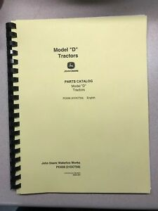 John Deere Unstyled D Tractor Parts Manual Free Shipping