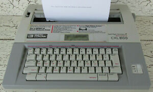 Smith Corona Portable Electric Typewriter Spell Right Dictionary Memory Cxl 5100