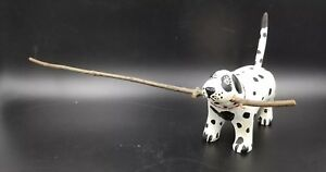 Folk Art Hand Carved Dalmation Dog W Stick In Mouth By Bruce W Murphy 1987 19