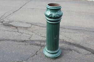 Antique Cast Iron Lamp Post Garden Plant Globe Stand Electrical Equipment Co Oh