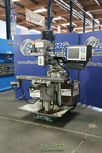 10 X 54 Used Acra Cnc Vertical Milling Machine W 3 Axis Cnc Servo Drive Syst