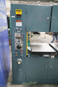 40 Used Tannewitz High Speed Vertical Bandsaw W Hydraulic Table Feed Mdl Tr