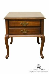 Brandt Fruitwood 20 End Lamp Table W English Antique Finish 7163