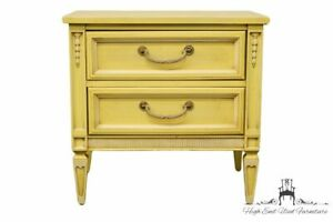 Stanley Furniture French Provincial Painted Cream 24 Two Drawer Nightstand 1